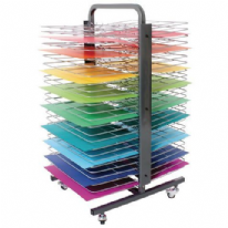 50 Shelf Mobile Drying Rack Double Sided
